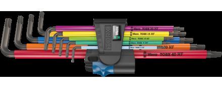 967/9 TX XL Multicolour HF 1 Juego de llaves acodadas TORX® HF con función de sujeción, versión larga