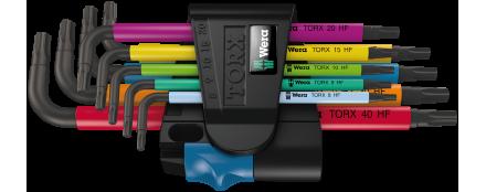 967/9 TX Multicolour HF 1 Juego de llaves acodadas TORX® HF con función de sujeción